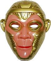 Маска Обезьяны золото (пластик) 240216-470