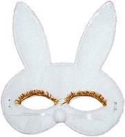 Маска детская Кролик ткань (белая) 240216-443