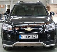 Защита переднего бампера труба изогнутая D60 на Chevrolet Captiva 2012