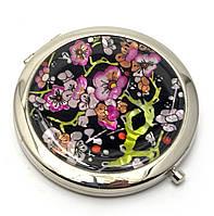 Зеркальце карманное косметическое Сакура