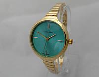 Часы женские Michael Kors slim, цвет золото, циферблат бирюзовый