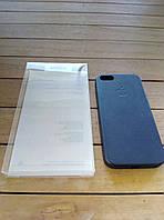 Кожаный чехол-накладка для iPhone 5/5s/SE black в фирменной упаковке (high copy)