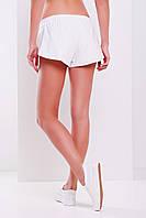 Короткие летние женские шорты с запахами по бокам на резинке
