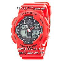 Часы мужские наручные Casio G-Shock Ga-100 Red-Black