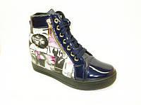 Ботиночки сникерсы синие Vogue Д411