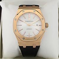 Мужские часы Audemars Piguet - Royal Oak стальной корпус, белый циферблат, класс ААА