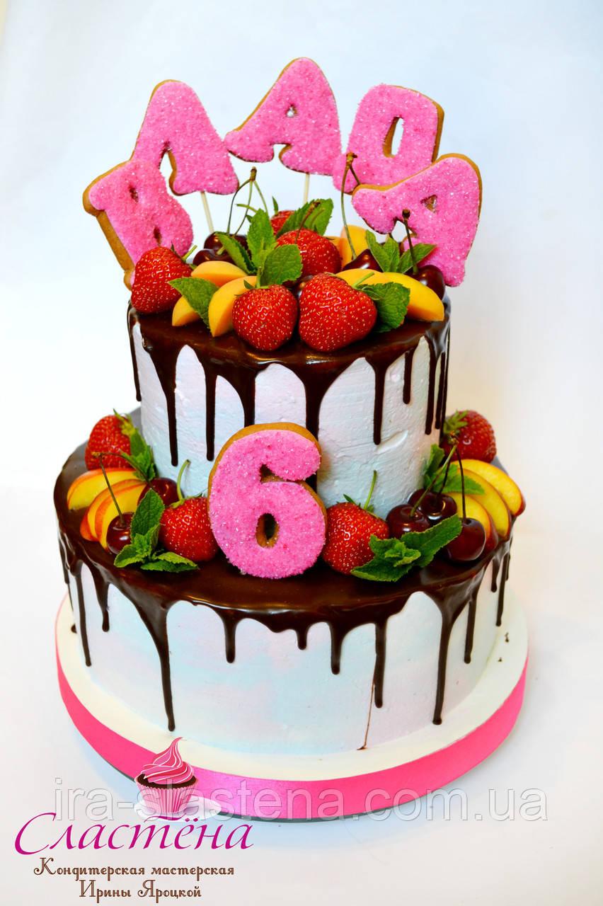 Своими руками торты на день рождения для девочек фото без мастики
