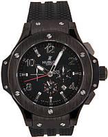 Стильные мужские часы Hublot Big Bang Black Steel Glass