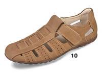 Летние мужские сандалии из натур. нубука МИДА 13045 олива