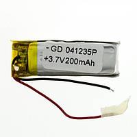 Универсальный внутренний аккумулятор 200mAh 3.7V (4x12x35mm) *1849