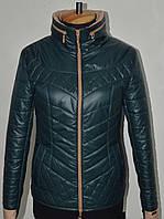 Демисезонная женская стеганная куртка Ричи, р 44-54, разные цвета