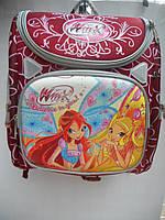 Детский школьный рюкзак для девочки ранец портфель недорого плотный текстиль оптом 7 км Г1575/2456