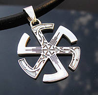 Коловрат ворона славянский оберег из серебра 925 проры