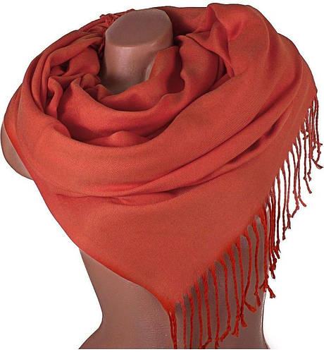 Замечательный женский палантин из пашмины 173 на 75 см ETERNO (ЭТЕРНО) SAT12072, оранжевый