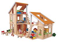 """Деревянная игрушка """"Кукольный домик Шале с мебелью"""""""