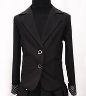 Стильный школьный пиджак на пуговицах 5200