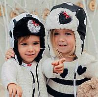 Детские зимние шапки для девочки DEMBOHOUS р-ры 48,50