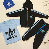 """Спортивный костюм двойка """"Adidas"""" черный размер 52-64"""