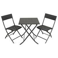 Комплект мебели складной 2+1(искуственный ротанг)