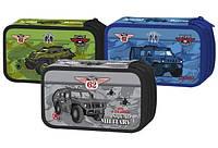 Пенал школьный Willy 2 отделения, Военные машины
