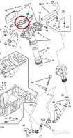 Прокладка (кольцо, уплотнение) теплообменника (радиатора охлаждения моторного масла двигателя) к корпусу масляного фильтра GM 5650834 55355602 для