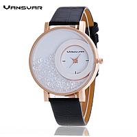 Часы наручные дизайнерские VansVar  «камни за стеклом»