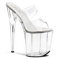 Высокая прозрачная обувь для Pole dance, сабо