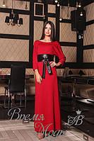 Платье длинное, вечернее, красное