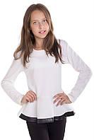 """Блуза для девочки с баской """"Лада"""""""