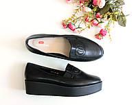 Туфли женские на платформе Chanel черные , женская обувь