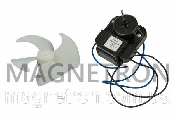 Двигатель вентилятора с крыльчаткой для холодильника Candy F61-10 92129063, фото 2