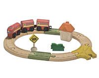 """Деревянная игрушка """"Овальная железная дорога"""", Plan Toys"""