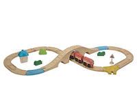 """Деревянная игрушка """"Железная дорога в виде восьмёрки"""", Plan Toys"""
