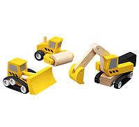 """Деревянная игрушка """"Набор дорожно-строительной техники"""", Plan Toys"""