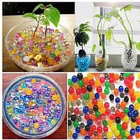Пакетик волшебных цветных впитывающих влагу шариков. Декоративный грунт для растений