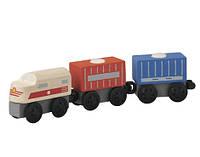"""Деревянная игрушка """"Грузовой поезд"""", Plan Toys"""