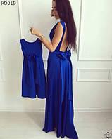 Детское длинное платье для мамы и дочки 86-116 см