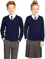 Школьные джемпера классические для мальчиков и девочек.  Разные модели и цвета  Хлопок 100%
