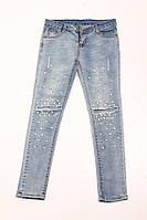 Женские джинсы с бусинками