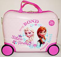 "Детский чемодан-каталка на 4-х колесах ""Холодное сердце"" 42х20х30 см"