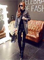 Кожаные брюки узкие черные