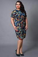 Элегантное модное платье из легкой ткани на каждый день с декоративными складками