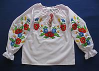 """Вышиванка. Детская вышитая блузка для девочек """"Марта с колосками"""". Детские вышиванки"""