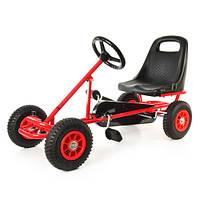 Детский веломобиль М 1503-3 надувные колеса,красный