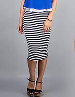 """Женская юбка в полоску  """"Пенсил"""" до 50 размера"""