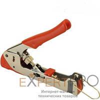 Инструмент опрессовочный Hanlong HT-H518G для компрессионных разъемов F, BNC, RCA