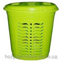 Корзина для белья овальная Ал-пластик