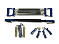 Набор фитнес: эспандеры кистевые - жёсткая ручка, плечевой 5 пружин