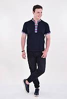 Стильная молодежная мужская футболка вышиванка с оригинальным орнаментом