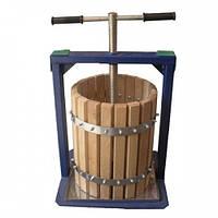Ручной пресс для отжима сока Вилен 25 л дубовый корпус